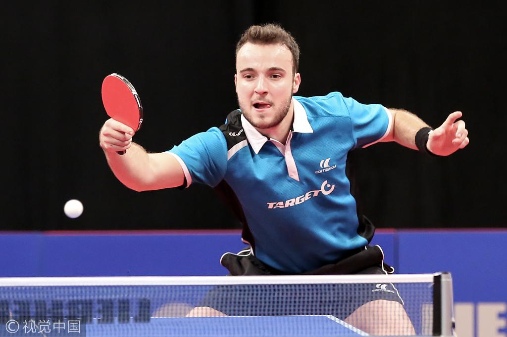 2017年10月22日,比利时,2017乒乓球男子世界杯3、4名争夺战,马