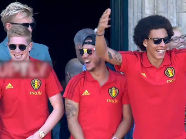 比利时凯旋与球迷见面 集体享受英雄般礼遇