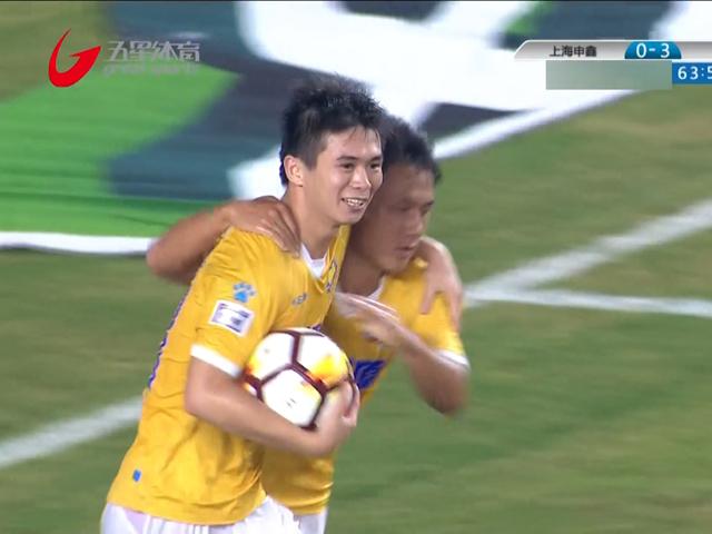 申鑫1-3绿城遭遇5连败