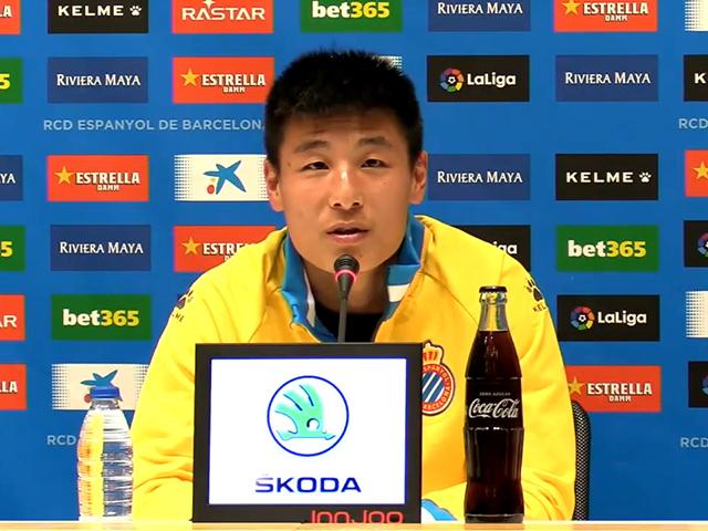 视频-武磊首次参加赛前发布会:西甲整体节奏快很多
