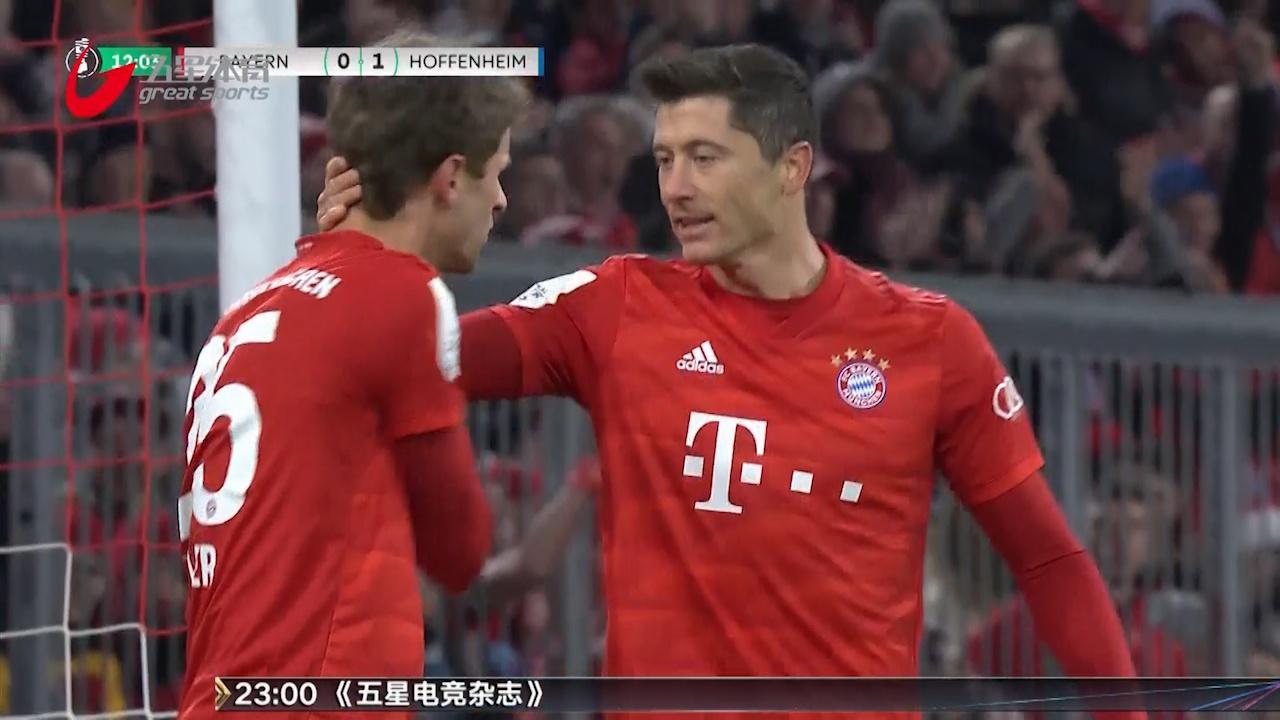 视频-穆勒传射莱万2球 德国杯拜仁4-3淘汰霍村