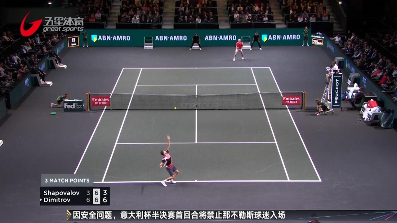 ATP鹿特丹站迪米首轮过关