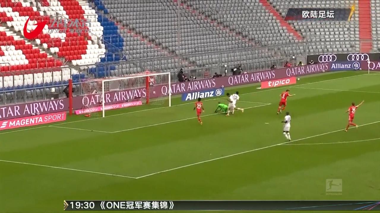 视频-莱万戴帽萨内复出建功 拜仁5-0大胜法兰克福