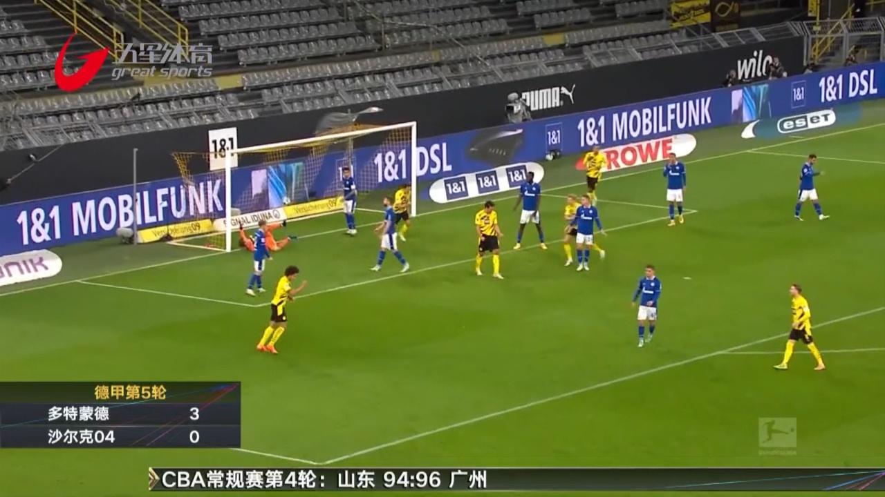 视频-哈兰德破门两中卫建功 鲁尔德比多特3-0完胜