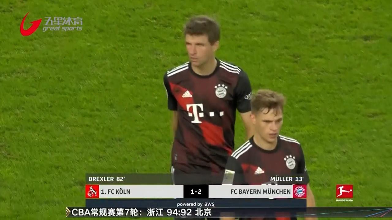 视频-穆勒格纳布里破门 拜仁2-1科隆登顶积分榜