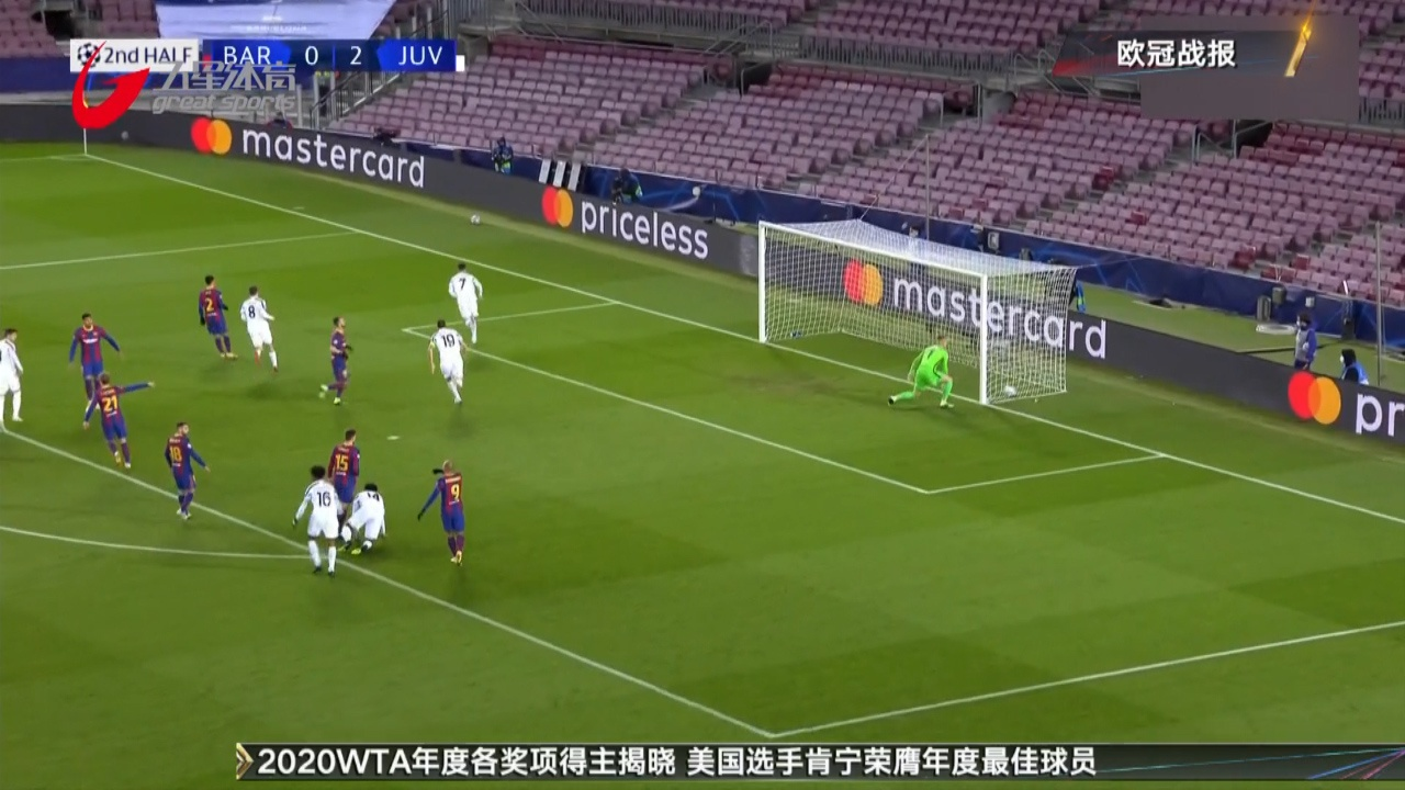 视频-C罗点球梅开二度 尤文3-0客胜巴萨反超夺头名