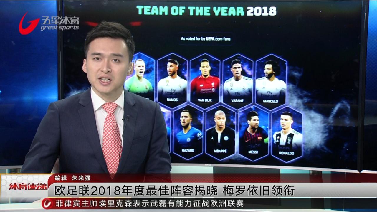 视频-欧足联2018年度最佳阵容揭晓 梅罗领衔内马尔落选