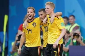 阿扎尔破门 比利时2-0英格兰夺季军