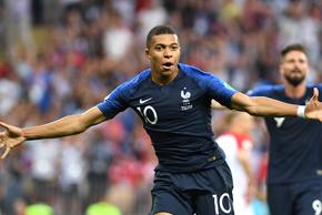 波霸姆巴佩破门 法国4-2克罗地亚夺冠