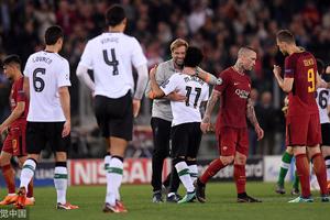 罗马两度落后4-2逆转 利物浦总分7-6进决赛