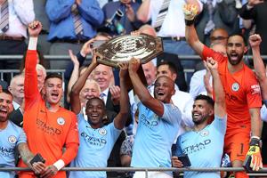 阿圭罗梅开二度 社区盾杯曼城2-0切尔西夺冠