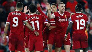 欧冠-萨拉赫2球2助破旧主 利物浦5-2罗马
