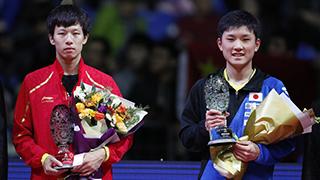 张本智和4-1林高远夺冠 成最年轻总决赛冠军