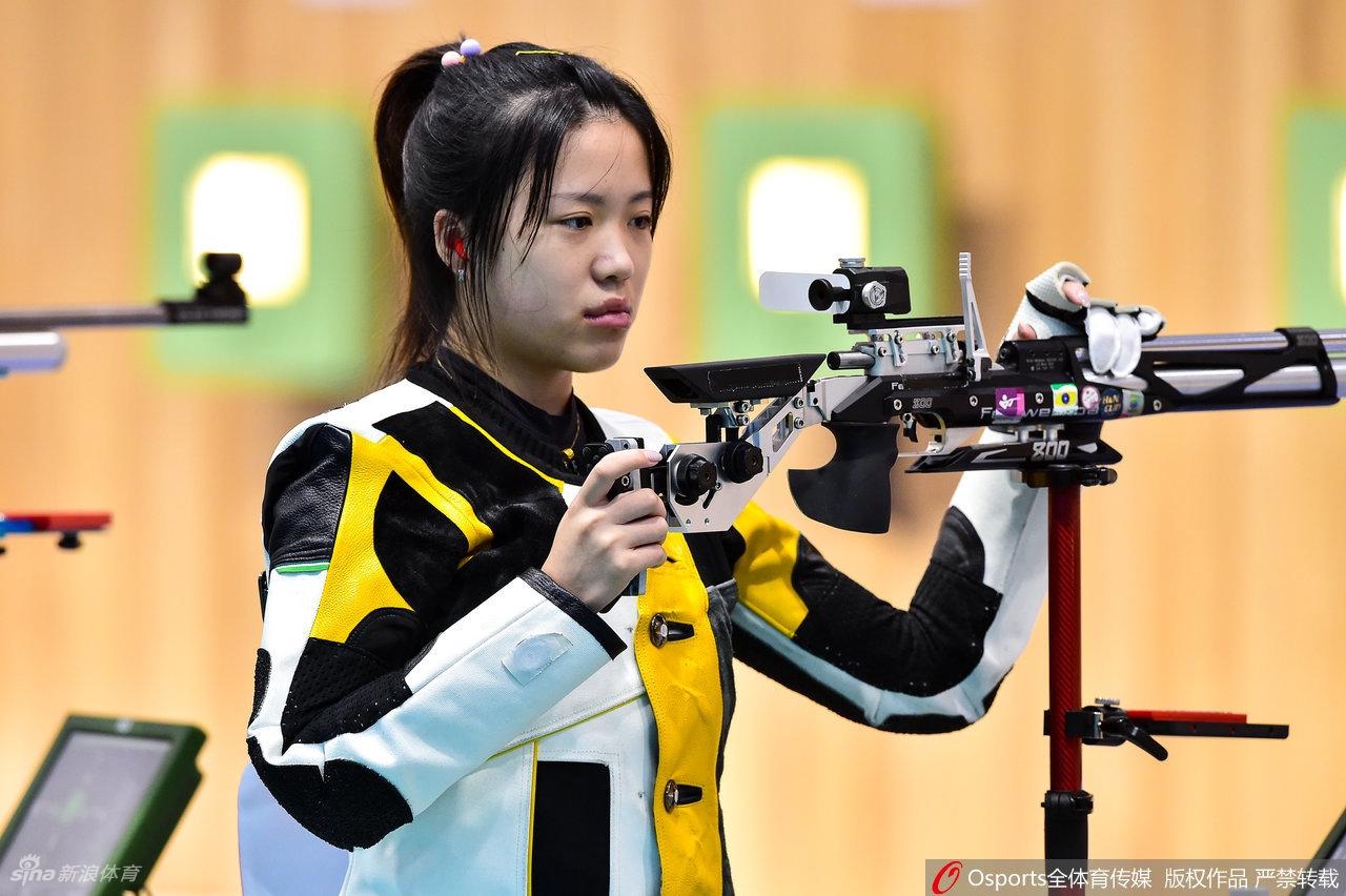 全运会女气步枪杨倩收获铜牌 王芝琳创纪录后夺冠