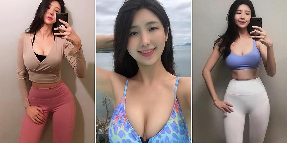 韩国健身美女身材傲人 这身材什么水平