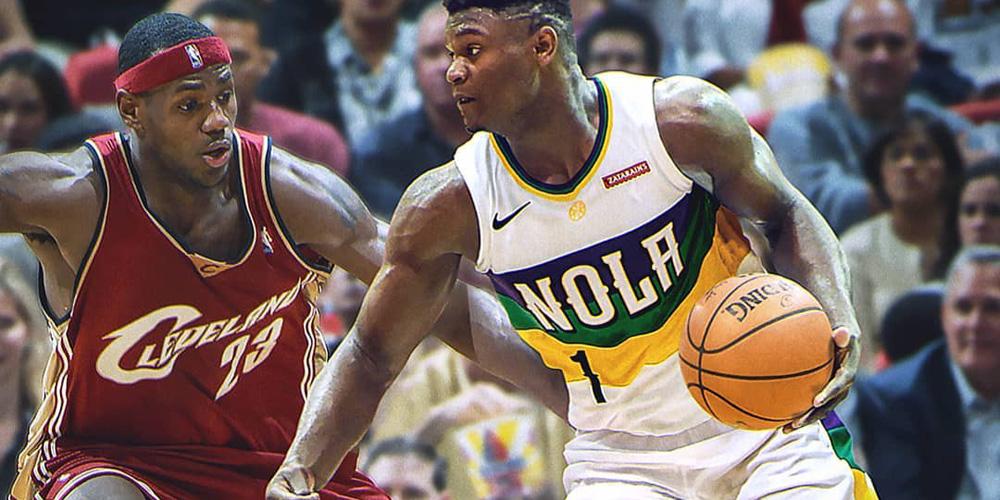 NBA时光机:卡哇伊大战乔丹 新秀锡安PK新秀詹姆斯