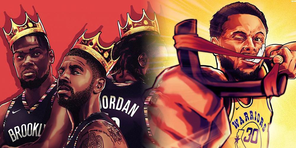 超炫酷NBA球星漫画壁纸