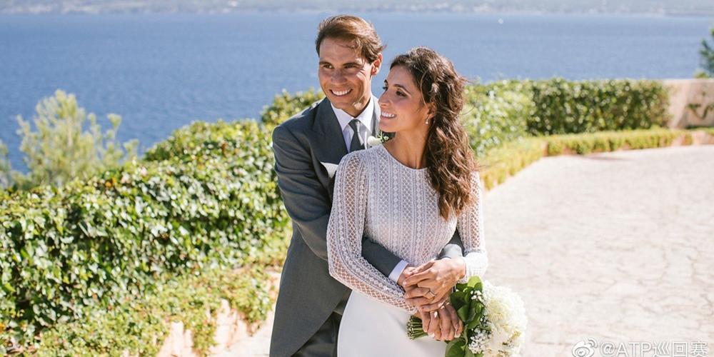 纳达尔婚礼照流出幸福满满