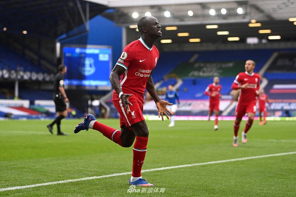 视频-萨拉赫马内破门 利物浦两度领先2-2平埃弗顿