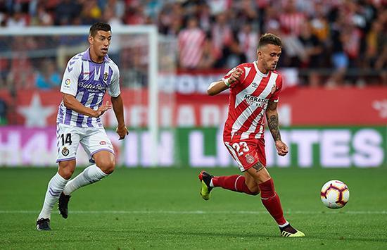 18/19赛季西甲首轮,赫罗纳0-0巴利亚多利德。东方IC 图