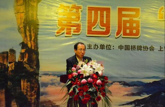 裁判长徐明宣布比赛收获