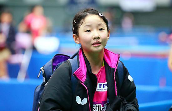 張本美和已經接連戰勝中國孩子。