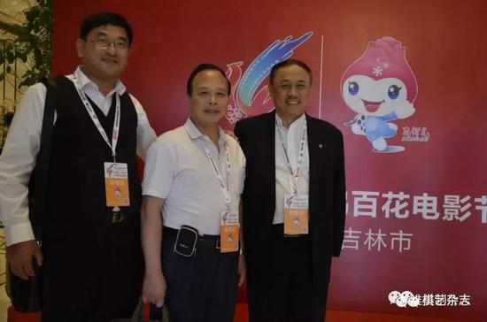 编剧:徐靖中(左一)、出品人:谢耀才(中)、编剧:崔兴旺(右一)