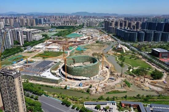 大运河亚运公园初现雏形亚运乒乓球赛场轮廓初现