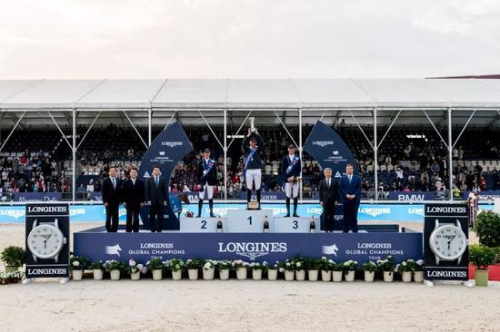 1.60米浪琴大奖赛颁奖仪式