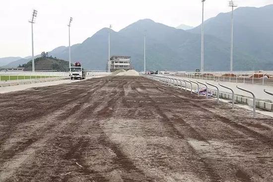 泥地跑道:松树皮与沙等比例混合,增加跑道孔隙率,保水控水不板结,保持跑道松软