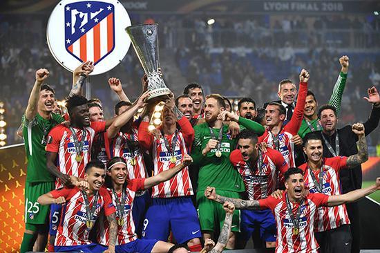 马竞拿下了本赛季的欧联杯。