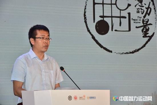 中国中学生体育协会棋类分会执行秘书长孙利军致辞