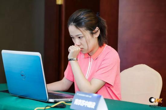 ▲南京苏中建设俱乐部於之莹六段在比赛中
