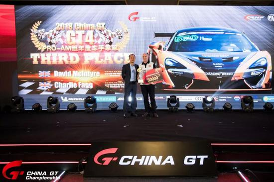 GT4组PRO-AM年度车手季军 The Winning Team David Mclntyre/Charlie Fagg