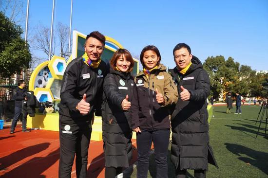 成基金三位创首人和亚洲足球幼姐王霜一首为亚运赋能