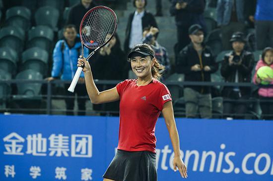 彭帅在深圳网球公开赛。