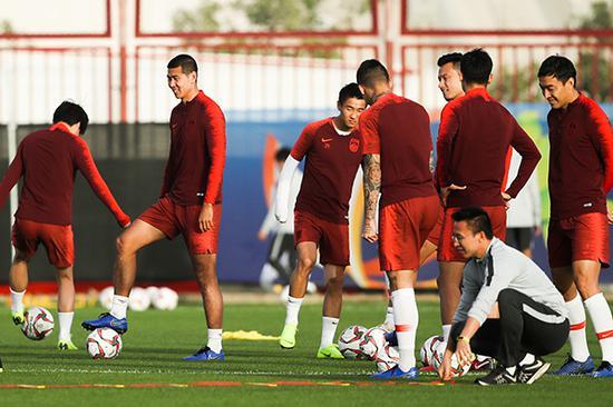 男足训练备战。视觉中国 图