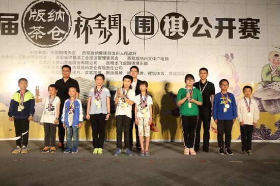 12、少年组团体奖:
