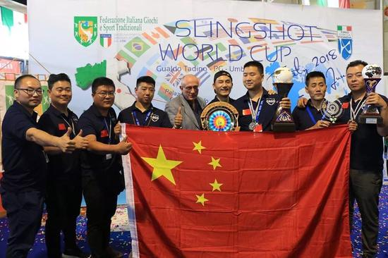 中国队在首届弹弓世界杯上惊艳全场