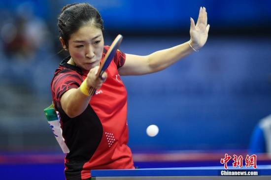 世乒赛新课女单冠军刘诗雯也同。样入围。(原料图)中新社记者 武英雄 摄
