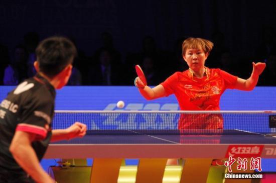 朱雨玲在比赛中(原料图)中新社记者 余瑞冬 摄