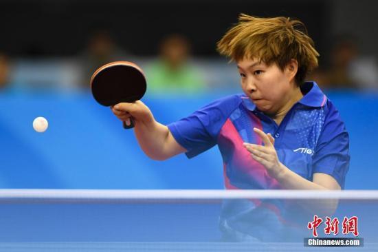朱雨玲在比赛中(原料图)中新社记者 武英雄 摄