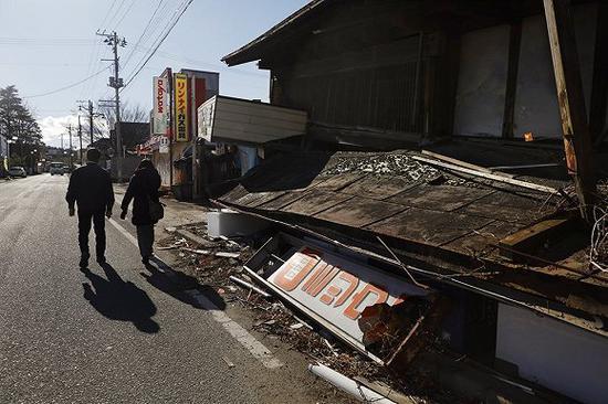 2019年12月,311地震发生八年后,福岛县双叶町的街道