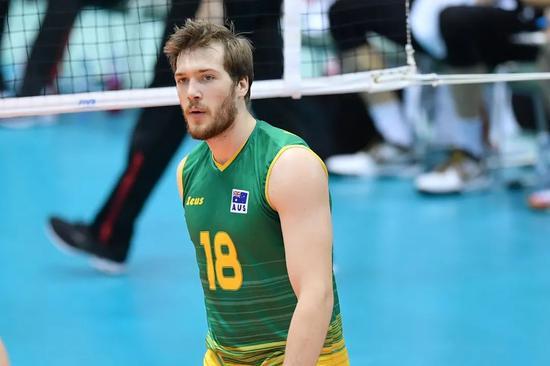 澳洲男排接应:俄球员都是战士 伦敦奥运最难忘