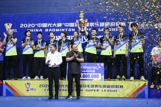 青岛仁洲队拿下冠军。本文图片 新华社记者王曦 摄