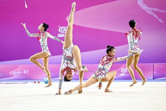 """国家艺术体操队演绎新成套 """"敦煌""""和""""霍元甲""""亮相"""