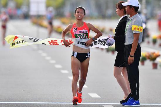 刘虹全国竞走锦标赛夺冠:亲谈2020东京奥运目标