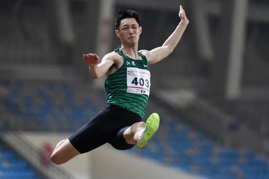 跳远名将王嘉男:体能训练让我更壮更有力量