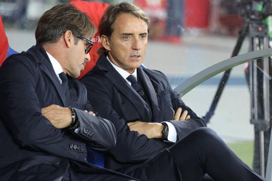 曼奇尼治下意大利连续22场不败 2006年以来首次
