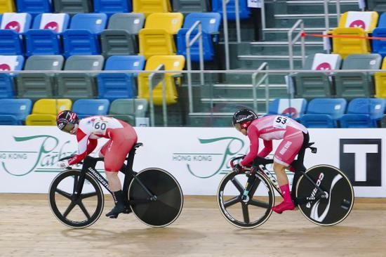 UCI场地自行车赛 中国香港名将李慧诗夺争先赛冠军